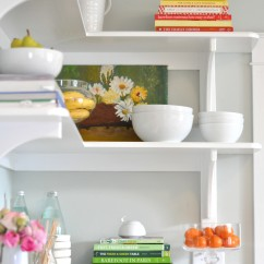 styling - kitchen shelving - photography by susan hutchinson